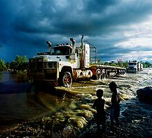 Nothing stops the road train - [NT remote river crossing] by DanielKojta
