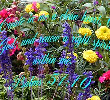 Psalms 51:10 by R&PChristianDesign &Photography