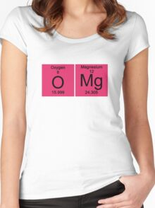 "Funny Periodic table ""OMG"" Oh My God Women's Fitted Scoop T-Shirt"