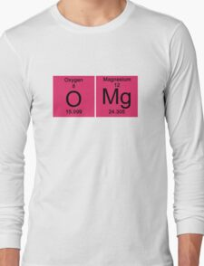 "Funny Periodic table ""OMG"" Oh My God Long Sleeve T-Shirt"