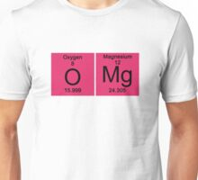 """Funny Periodic table """"OMG"""" Oh My God Unisex T-Shirt"""