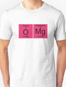 """Funny Periodic table """"OMG"""" Oh My God T-Shirt"""