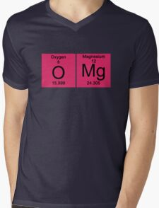 """Funny Periodic table """"OMG"""" Oh My God Mens V-Neck T-Shirt"""