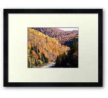 Autumn Splendor-Cabot Trail Framed Print
