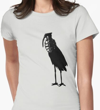 granaten storch Womens Fitted T-Shirt