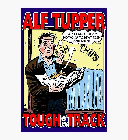 Alf Tupper Tough of the Track Comic Fish & Chips Photographic Print