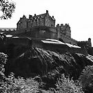 Edinburgh Castle B&W by Martina Fagan