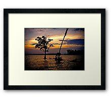 Inter coastal Sunset  Framed Print