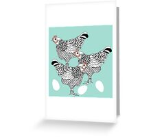 The chicken and the egg Greeting Card