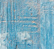 Blue Weathered wooden background Sticker