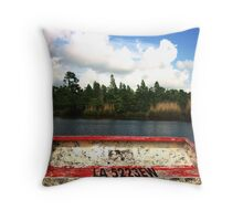 Water Boat Throw Pillow