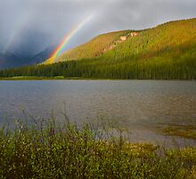 Rainbows over Piney Lake by Paul Gana