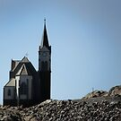 Church strongly build on the rocks by Madcowontherun
