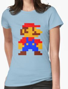 Super Mario Bros Pixel Womens Fitted T-Shirt
