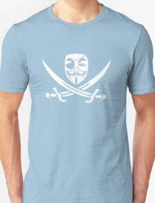 Anonymous mask skull and crossbones pirate T-Shirt