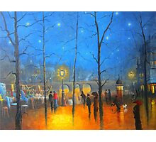 Starry Night Paris Photographic Print