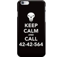 Keep calm and call 42-42-564 Call the Shinigami iPhone Case/Skin