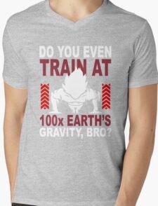 Train Goku Gym Mens V-Neck T-Shirt