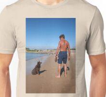 3 Nick with his Rescue Dog Rosie a Kelpie-Border Collie  Unisex T-Shirt