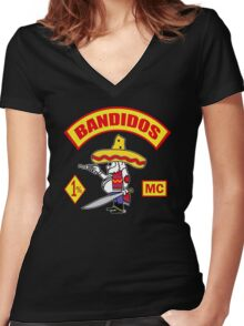Bandidos Motorcycle Club Women's Fitted V-Neck T-Shirt