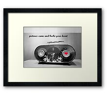 the radio star Framed Print
