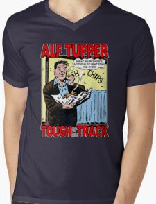 Alf Tupper Tough of the Track Comic Fish & Chips Mens V-Neck T-Shirt