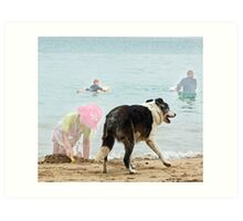 Dog Cancan Art Print