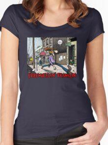 Fabulous Furry Freak Brothers Freewheelin Franklin Women's Fitted Scoop T-Shirt