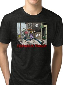 Fabulous Furry Freak Brothers Freewheelin Franklin Tri-blend T-Shirt