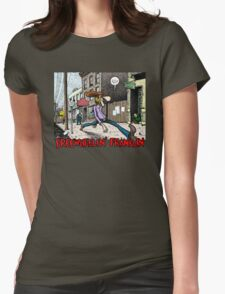 Fabulous Furry Freak Brothers Freewheelin Franklin Womens Fitted T-Shirt