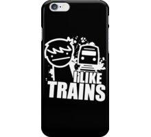 Iliketrains I like trains iPhone Case/Skin