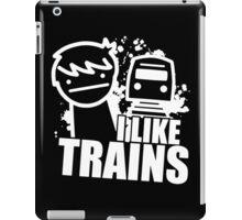 Iliketrains I like trains iPad Case/Skin