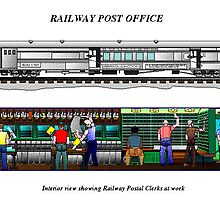 Railway Mail Computer Graphic by BobHenry