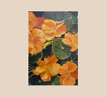 Nasturtiums. Acrylic on canvas.  Womens Fitted T-Shirt