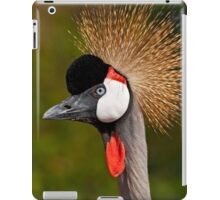 Grey Crowned Crane (Balearica regulorum) iPad Case/Skin