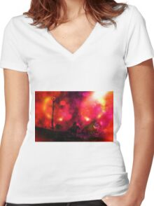 Mordor Unleashed Women's Fitted V-Neck T-Shirt