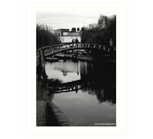 Camden Lock in London Art Print