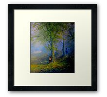 Encounter In The woods Framed Print