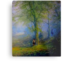 Frodo and The Wood Elves Metal Print