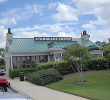 Starbucks Coffee Shop by Mimmie Hunter
