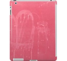 Abstract background in rouge with heart shape iPad Case/Skin