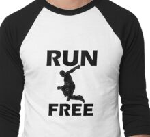 Run Free Men's Baseball ¾ T-Shirt