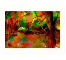 Autumn Glass Art Print