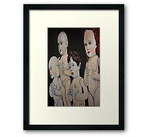 Hanging dolls Framed Print