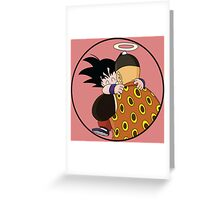 Happy Goku Hugs Grandpa Gohan :3 Greeting Card