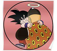 Happy Goku Hugs Grandpa Gohan :3 Poster