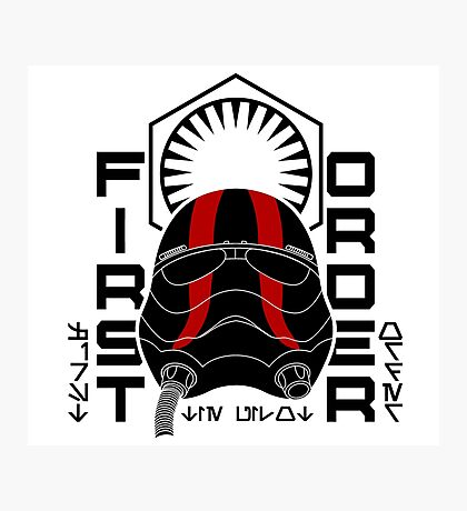 NEW ORDER TIE FIGHTER PILOT Photographic Print