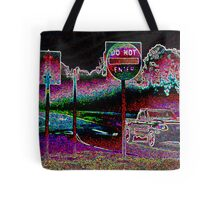 Glowing Intersection Tote Bag