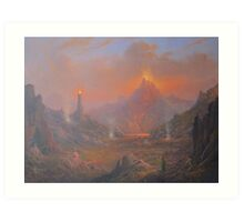 Mordor.Land Of Shadow Art Print