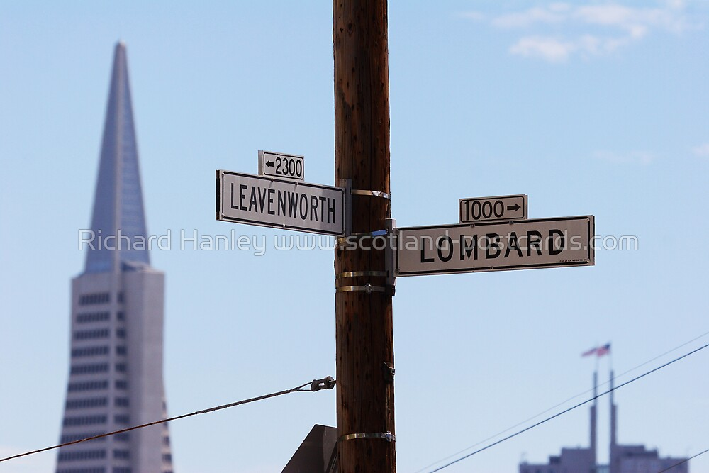 Lombard and Leavenworth by Richard Hanley www.scotland-postcards.com